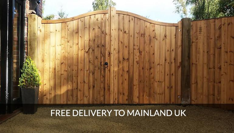 Free delivery on all timber gates to mainland UK