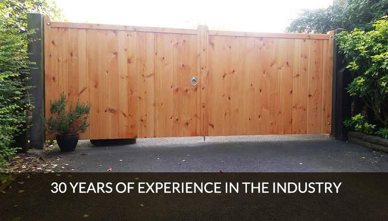 30 years experience in timber gates